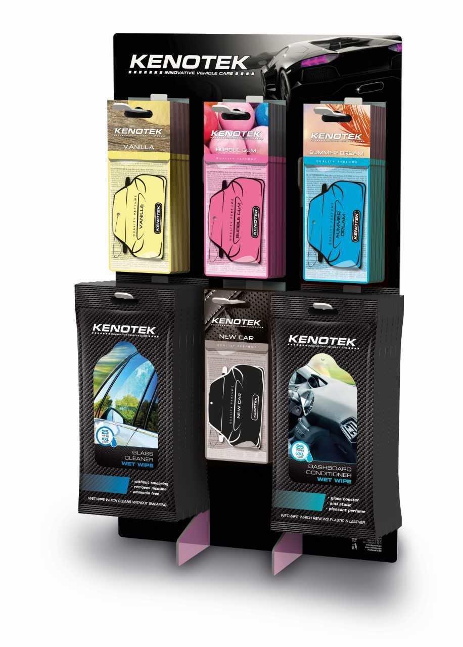 Kenotek Display perfumes & wipes