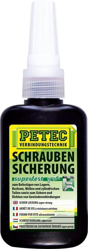Petec schroefdraadborging super vast groen 250 gr.