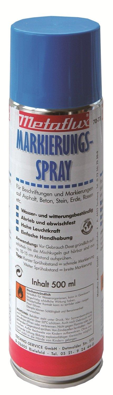 Metaflux markering spray blauw (fluo), inhoud: 500 ml