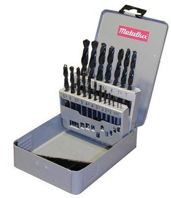 Metaflux koffer 19 boren HSS 1,0 mm tot 10 mm