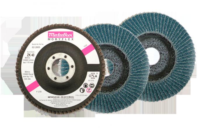 Metaflux mobyflex schijf convex korrel 120, diameter 115