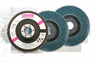 Metaflux mobyflex schijf plat korrel 40, diameter 115