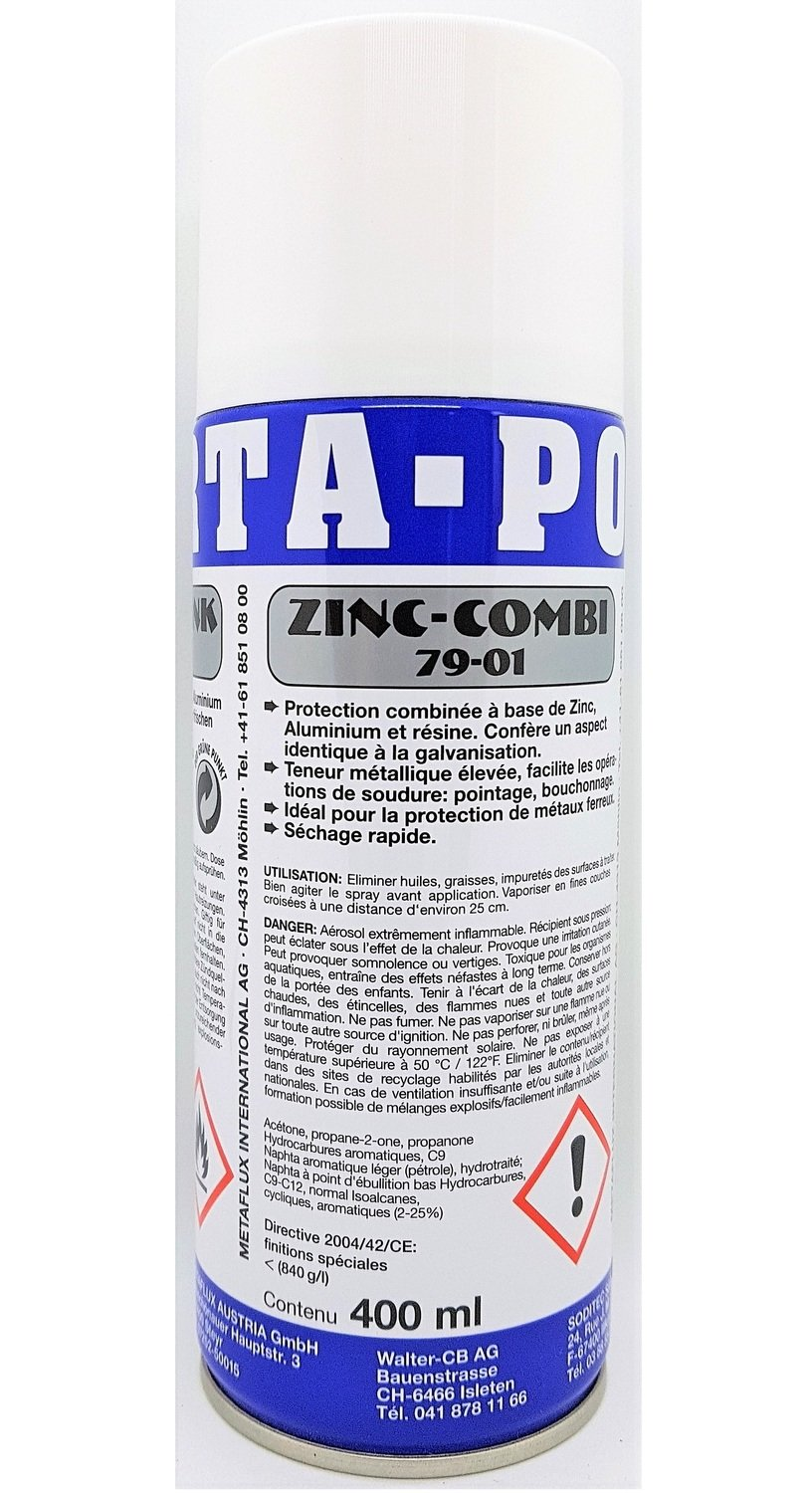 Porta combi zink spray, inhoud: 400 ml