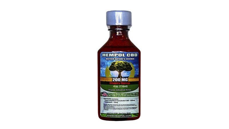Hempol Nano CBD Syrup - Cherry Flavor