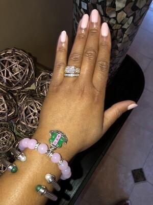 Crystal Pink AKA Charm Bracelet