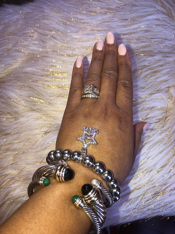 AKA Silver Star Bracelet