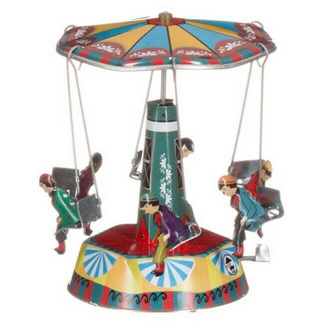 Carrousel met 6 zitjes uit India.