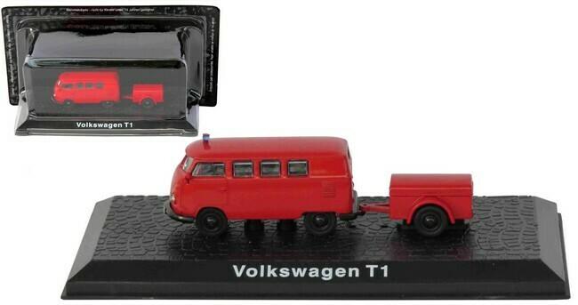 Volkswagen T1 met aanhangwagen