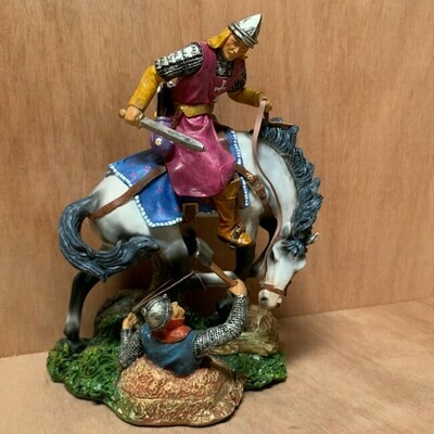 Ridder te paard in gevecht