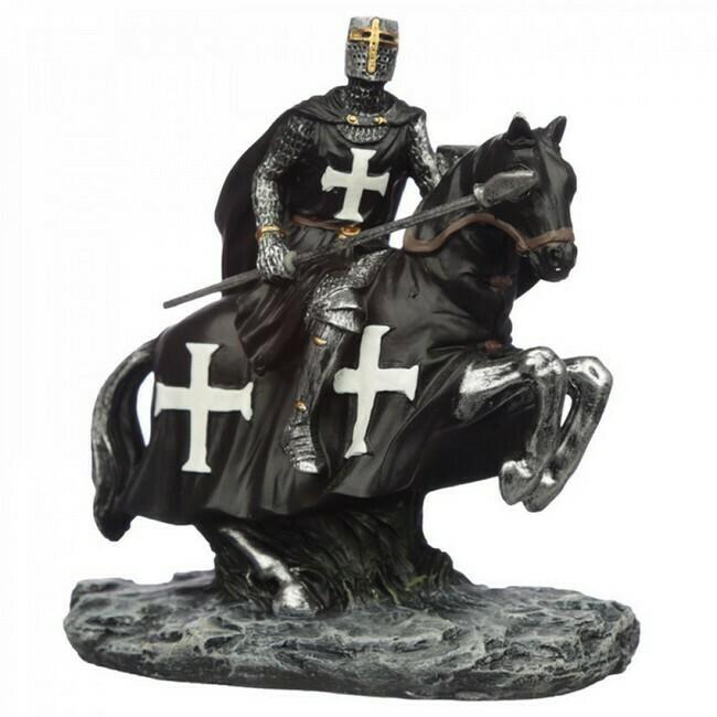 Zwarte Ridder te paard