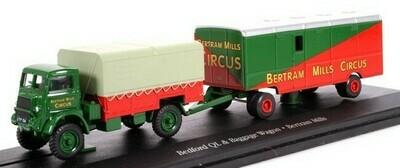Bedford QL met baggage wagon Bertram Mills Circus