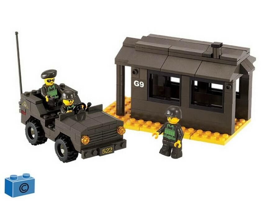 Jeep en wachtpost (B6100)