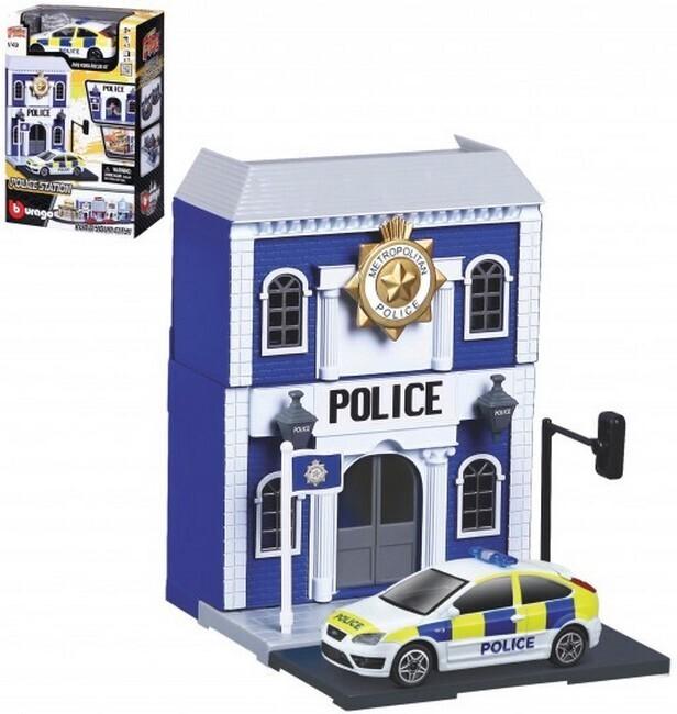 "Bburago City ""Police Station""  + Ford Focus ST"