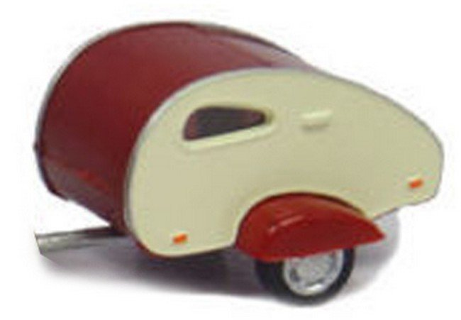 Caravan rood/wit