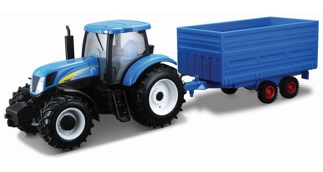 New Holland T7000 met aanhanger