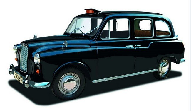 James Bond  -  Austin FX4 taxi