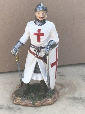 Tempelier met schild en zwaard