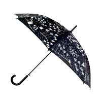Paraplu zwart met wit motief