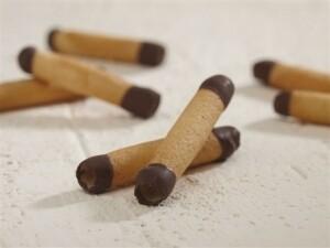 Cigarette Rus gedipt in chocolade