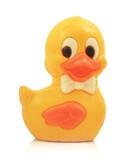 Zwemmend eendje geel wit