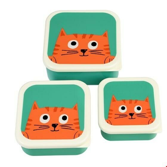 Set van 3 doosjes  Chester the cat