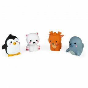Polar dieren in bad