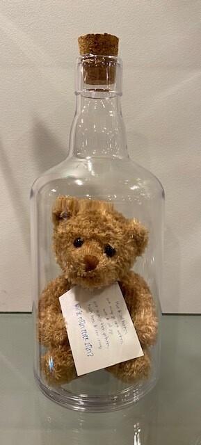 Message in een fles met beer meter