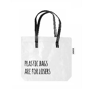 Shopper wit uit 100% wasbaar papier.