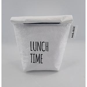 Lunchbag wit uit 100% wasbaar papier.