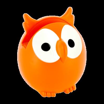 Brilhouder uil oranje