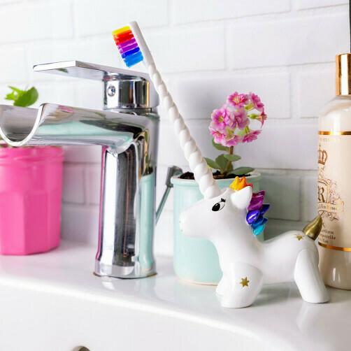 Tandenborstel met houder unicorn
