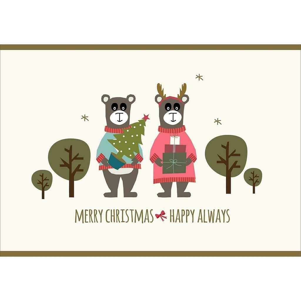 Kerstkaartjes: merry christmas & happy always