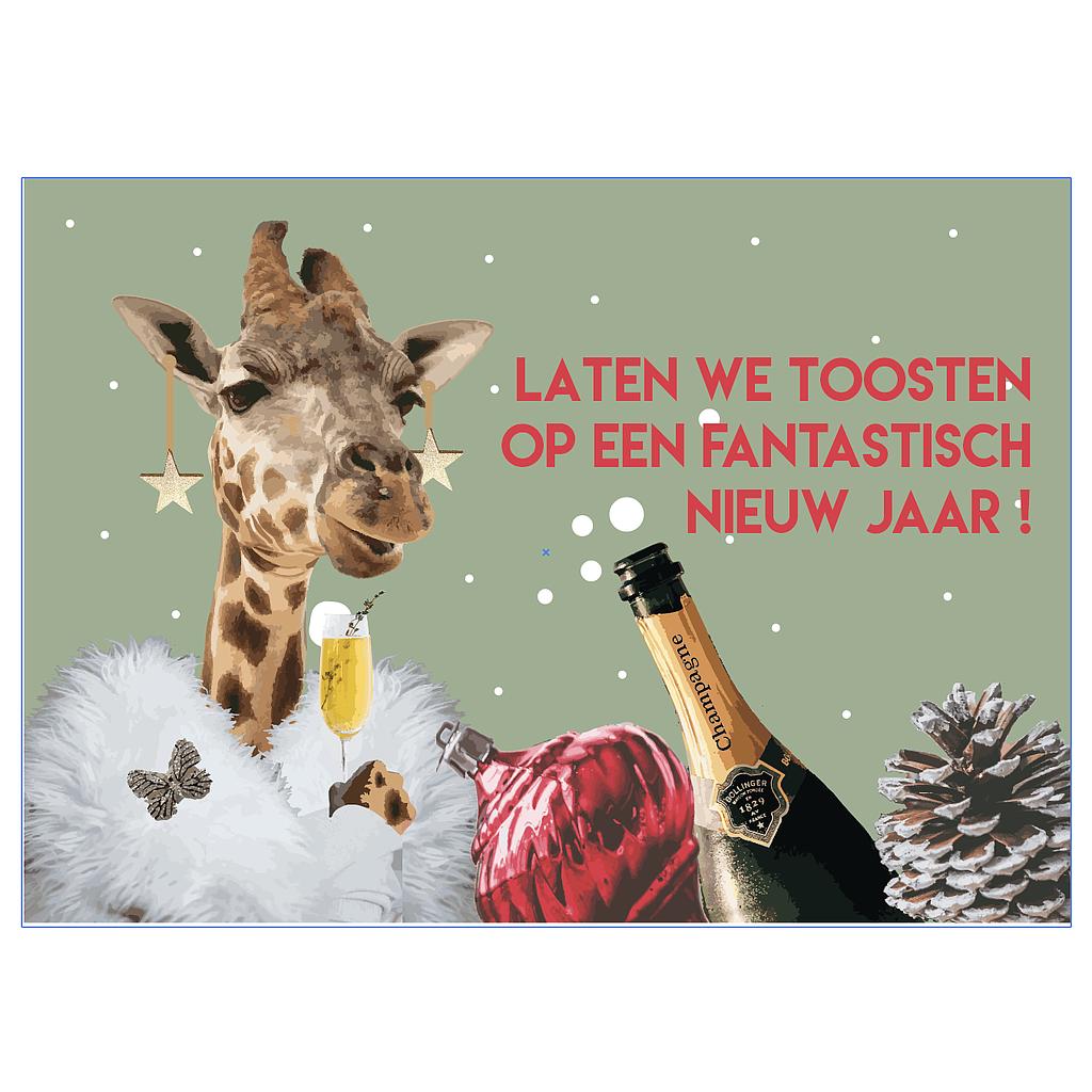 Kerstkaartjes: Laten we toosten op een fantastisch nieuw jaar