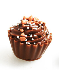 Cupcake met donkere ganache