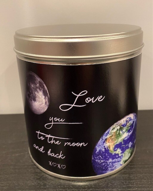Valentijn blik: love you to the moon and back