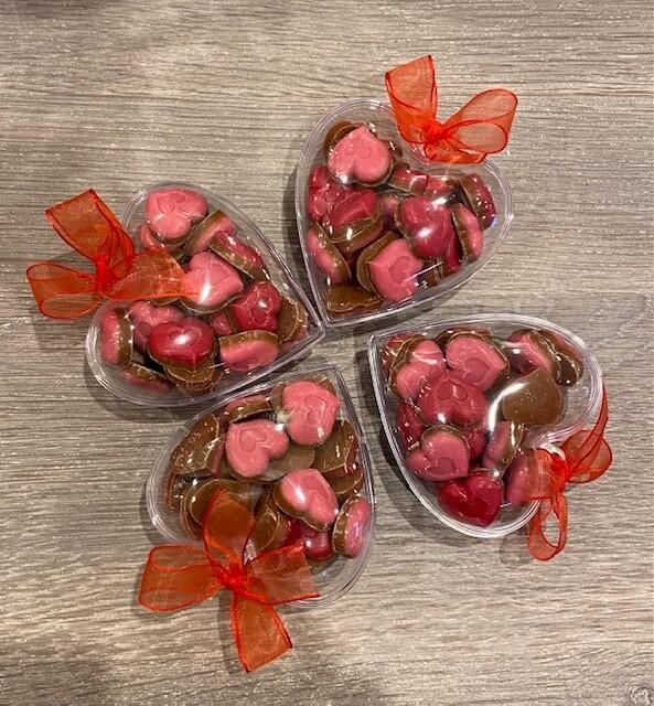 Hartje met chocolade
