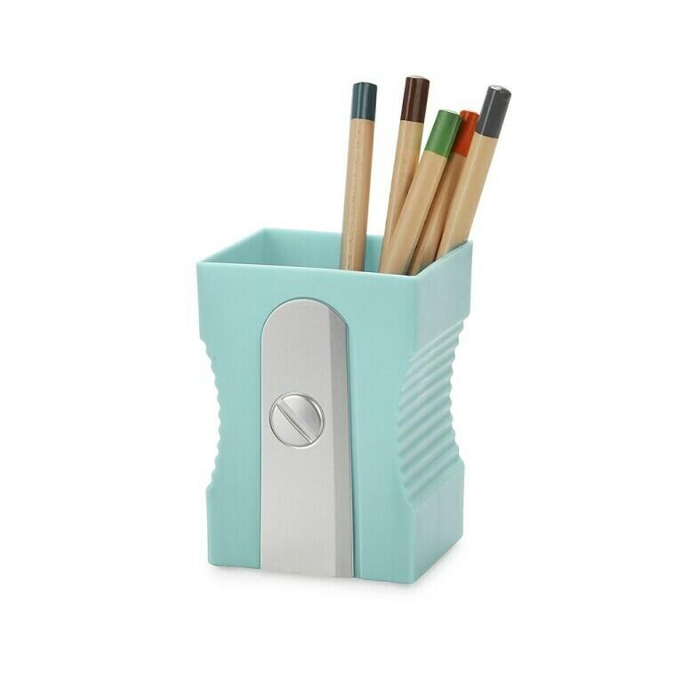 Pen houder puntenslijper turquoise