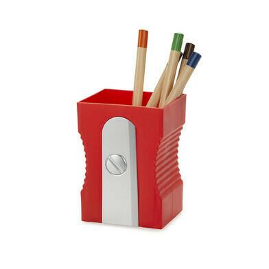 Pen houder puntenslijper rood