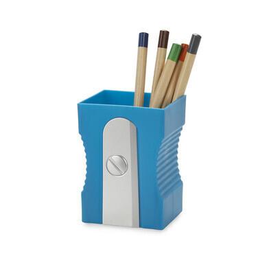 Pen houder puntenslijper blue