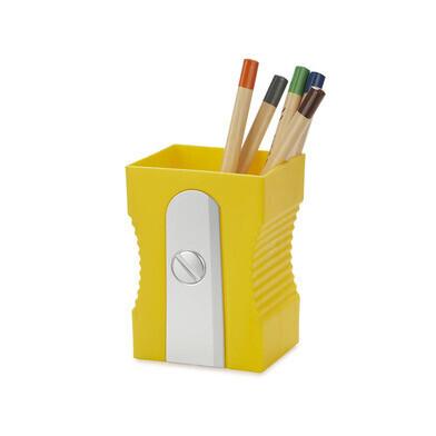 Pen houder puntenslijper geel