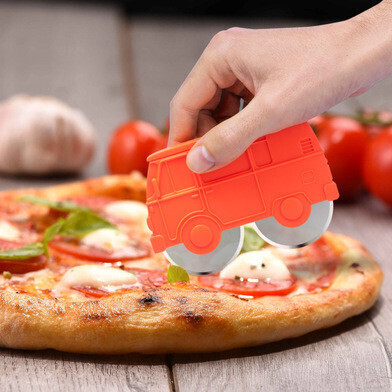 Pizza cutter rood