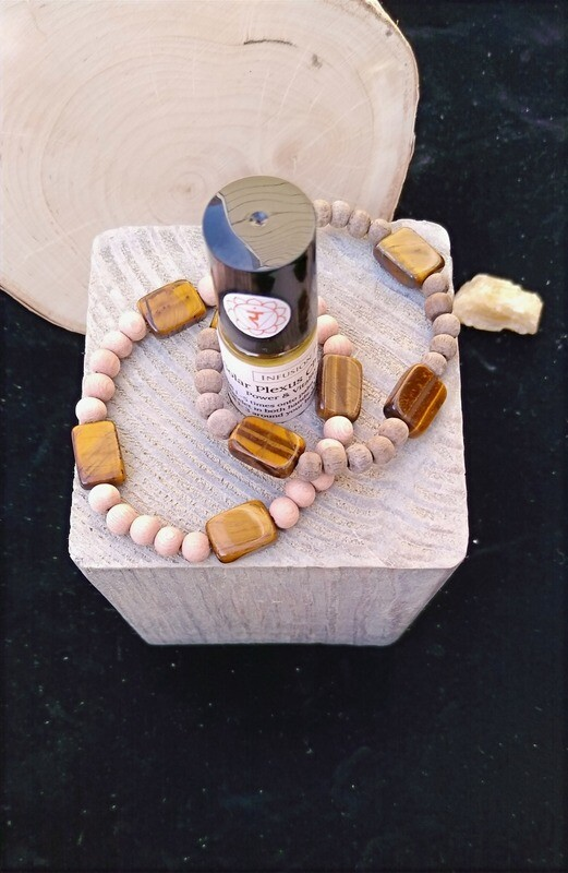 Tiger's Eye~ POWER GOOD LUCK CREATIVITY Essential Oil Infusion Bracelet
