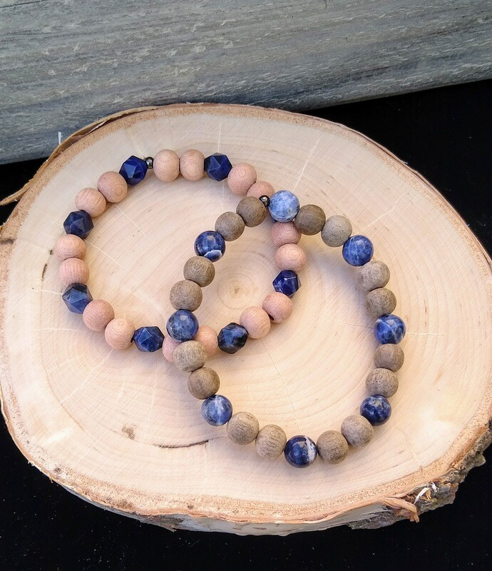 Sodalite~ TRUTH AWAKENING CALM~ Essential Oil Infusion Bracelet
