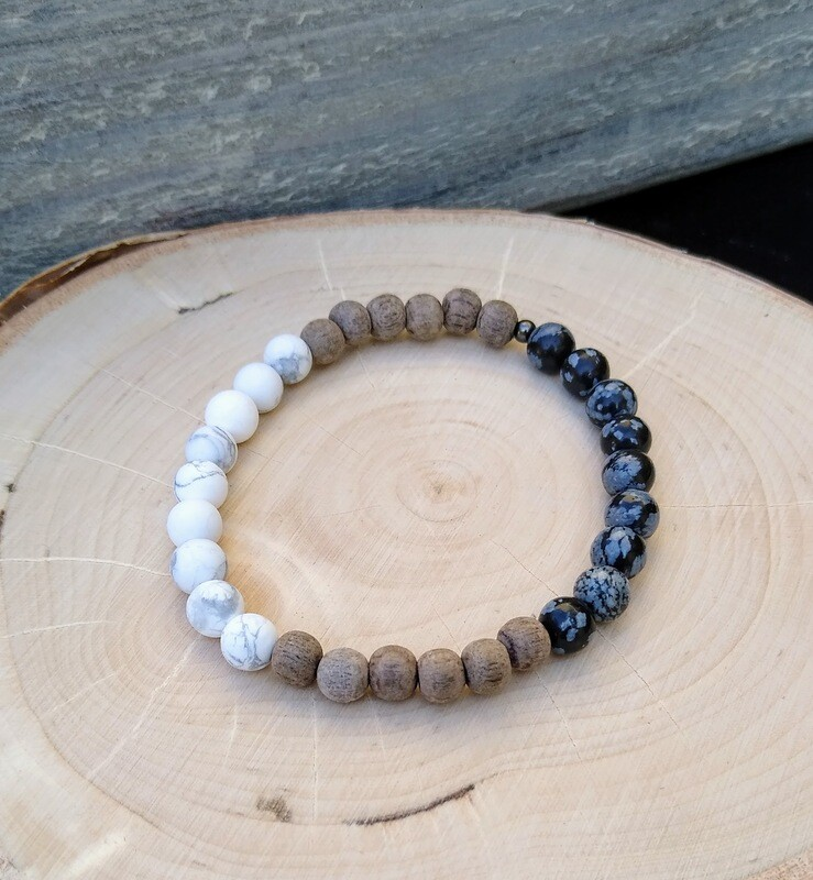 YIN and YANG Essential Oil Infusion Bracelet