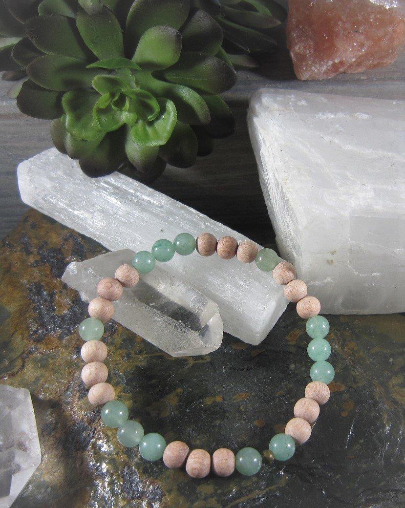 Green Aventurine~ HEALING GOOD LUCK~ Essential Oil Infusion Bracelet