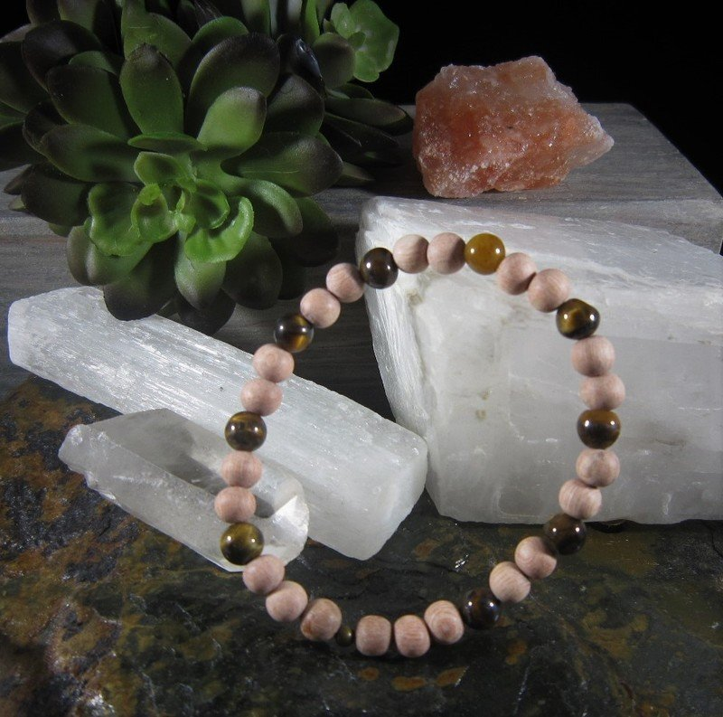 Tiger's Eye~CREATIVITY POWER PROSPERITY~ Essential Oil Infusion Bracelet (6mm round)