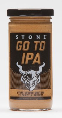 Stone Go To IPA Stone Ground Mustard with Chipotle Peppers
