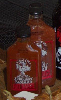 Arrogant Bastard Bourbon Barrel-Aged BBQ and HOT Sauce
