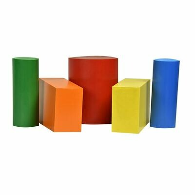 "ABS Bundle 8; One Rod 4"" D x 6"" L, Two Rods 2"" D x 6"" L Two Blocks 2"" x 4"" x 6"""