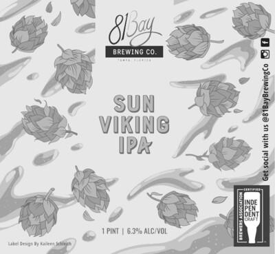 81 Bay Sun Viking IPA (1/6 BBL KEG)